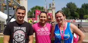 Dame Jessica Ennis Hill with Andrea Petrie